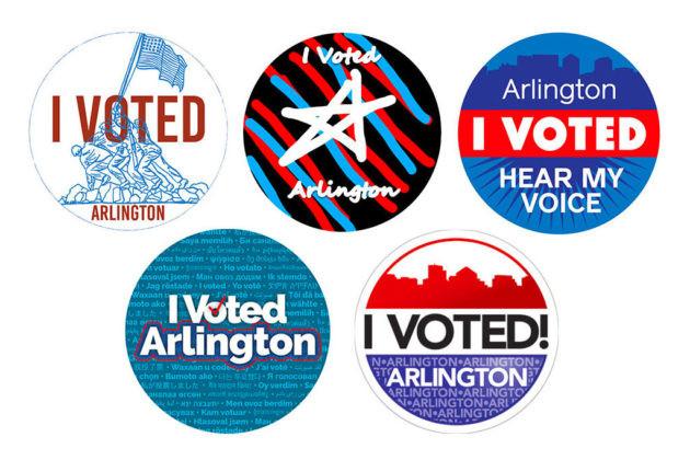 "Arlington County's ""I voted"" sticker design contest brings close second for j.a. creative"