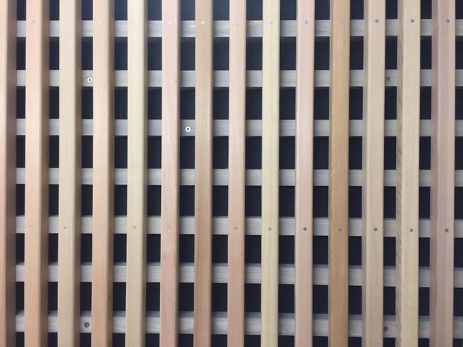 Bemusterung der Holzfassade