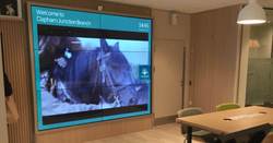 Video wall - interactive-video-wall-disp