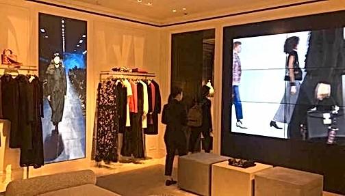 Video wall 3x2 shop display