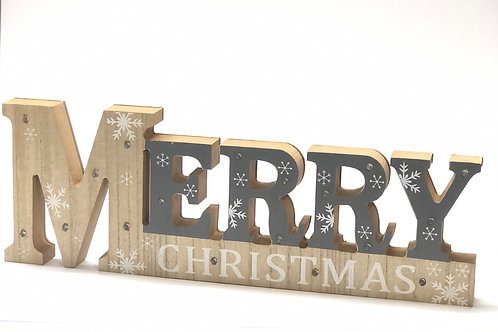 Letters Merry Christmas LED