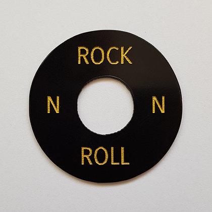 ROCK N ROLL poker chip in aged black