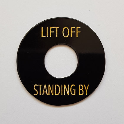 LIFT OFF/STANDING BY poker chip in aged black