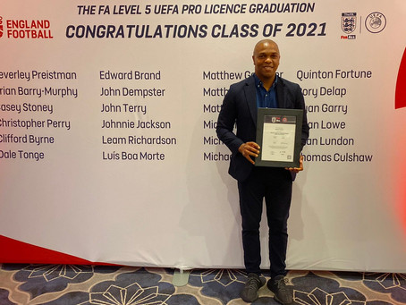 Fortune completes his UEFA Pro Licence