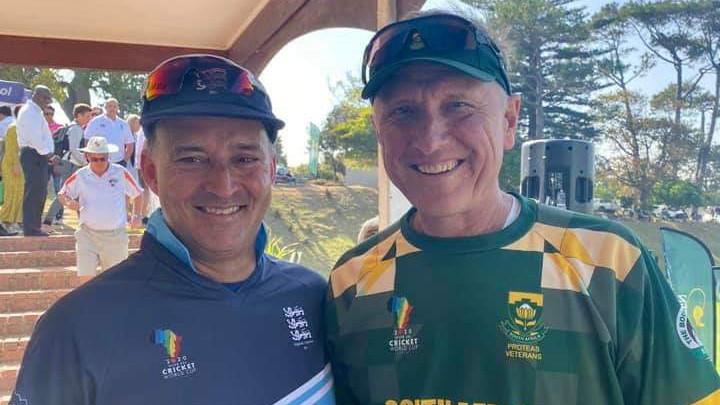 Proteas Veterans coach Allan Donald with England's Mel Hussain