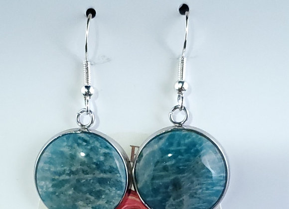 Earrings -Fish Hook-Amazonite