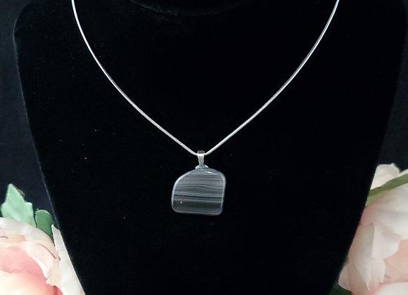 Polished Rock Necklace-Sheen Obsidian