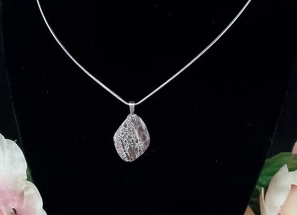 Polished Rock Necklace-Sonoran Dendritic Rhyolite