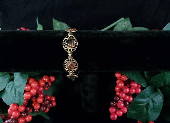 Bracelet Tumbled Stone-Obsidian