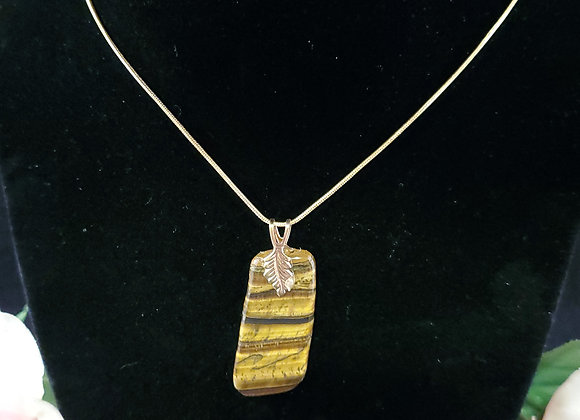 Polished Rock Necklace-Tigers Eye