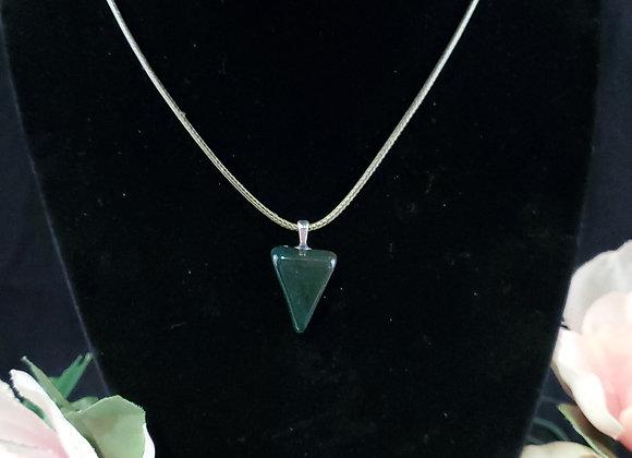 Polished Rock Necklace-Bloodstone