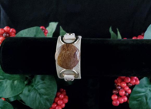 Leather Bracelet-Script Stone