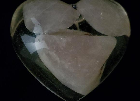 Casting Heart-Rose Quartz