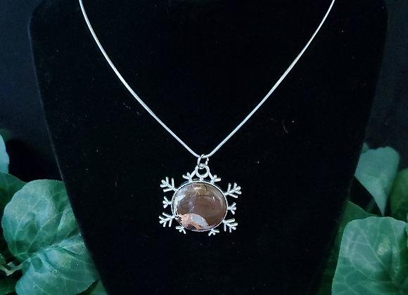 Snowflake Pendant Necklace-Jasper