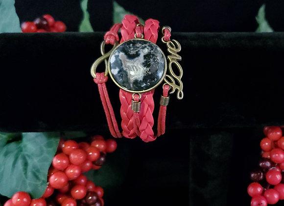 Love Bracelet- Lace Agate