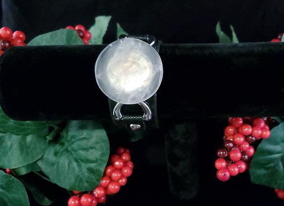 Leather Bracelet-Rose Quartz