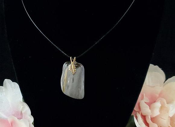 Polished Rock Necklace-Petrified Wood