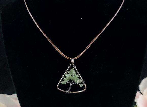 Tree of Life Necklace-Green Quartz