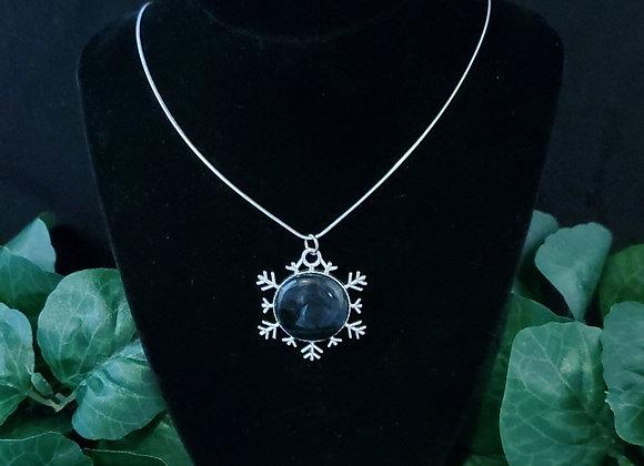Snowflake Pendant Necklace-Tiger Eye