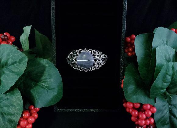 Fancy Metal Bracelet-Lepidolite
