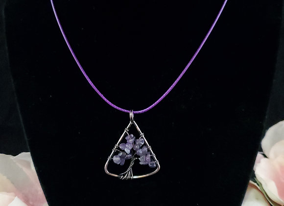 Tree of Life Necklace-Amethyst