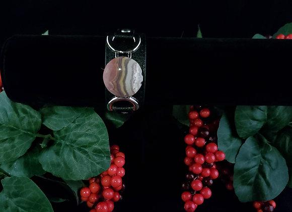 Leather Bracelet-Flower of Peach