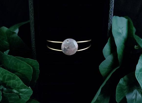 Metal Bracelet- Jasper/Agate