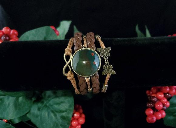 Butterfly Bracelet- Bloodstone