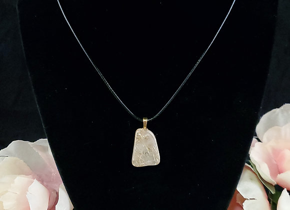 Polished Rock Necklace-Rutilated