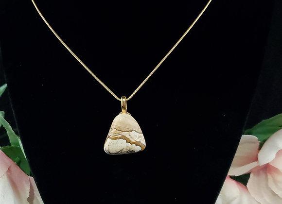 Polished Rock Necklace-Picture Jasper