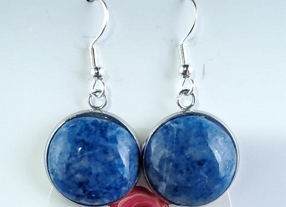 Earrings -Fish Hook- Lapis Lazuli