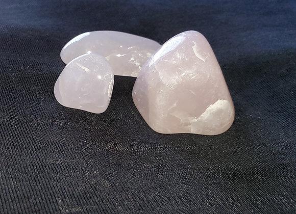 Polished Rose Quartz Crystals