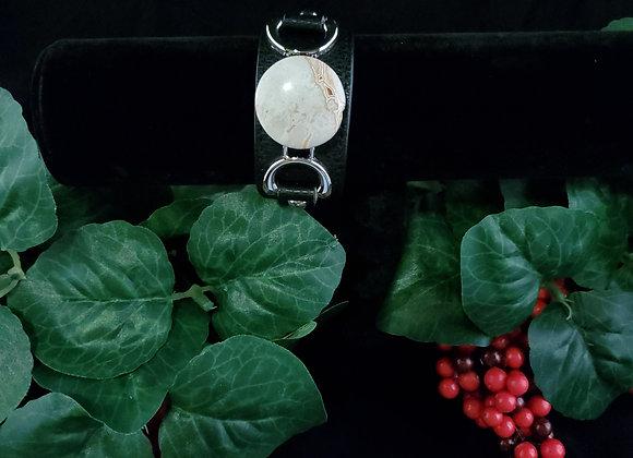 Leather Bracelet-Keswick Agate