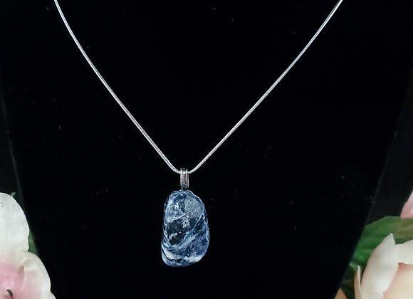 Polished Rock Necklace-Sodalite