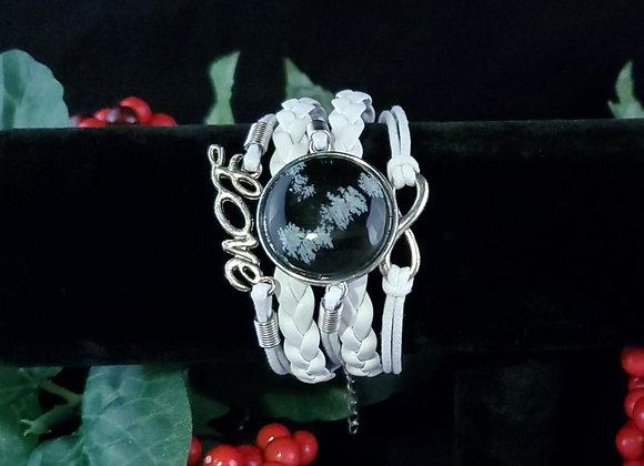 Love Bracelet- Obsidian