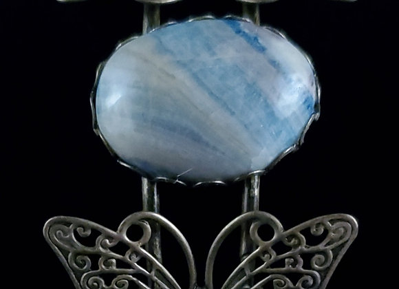 Metal Butterfly Bracelet-Lapis Lace
