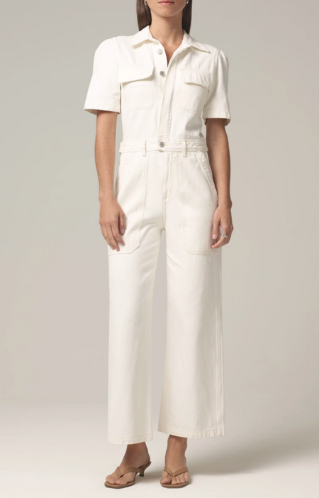 citizens of humanity miki jumpsuit - whi