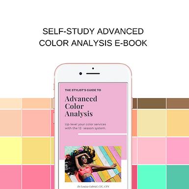 self-study advanced color analysis E-boo