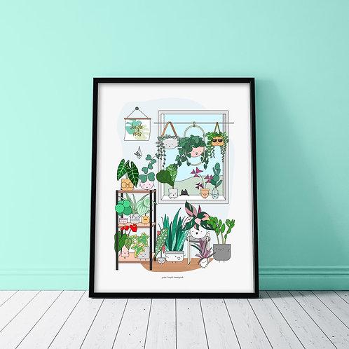 PLANT WINDOW POSTER
