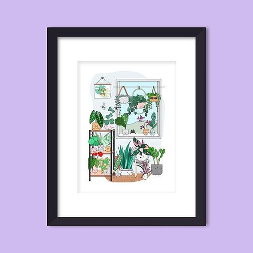 PLANT WINDOW ART PRINT