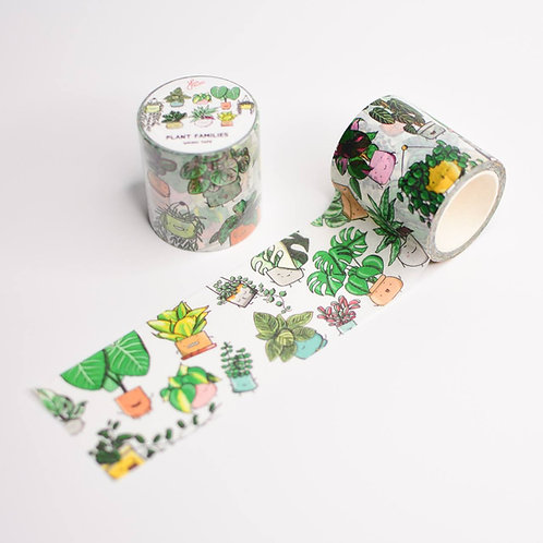 PLANT FAMILIES WASHI TAPE (WIDE)