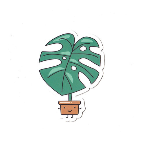 MONSTERA, VINYL STICKER