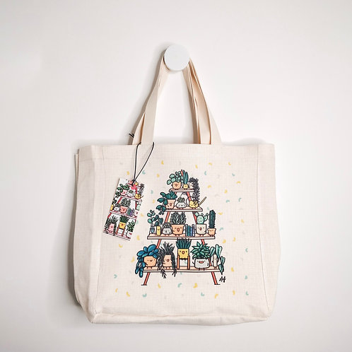 PLANT SHELFIE TOTE BAG
