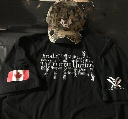 The Veteran Hunters Word Cloud T-Shirt - T-SHIRT ONLY
