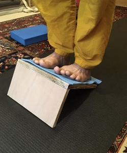 Utilisation du support à pieds.