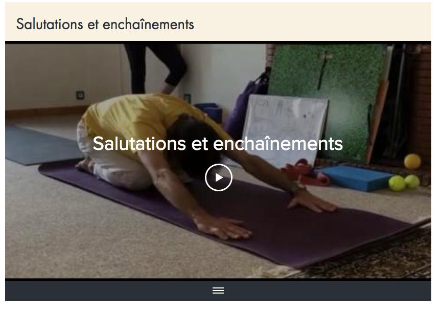Aller à la page des vidéos de Yoga.