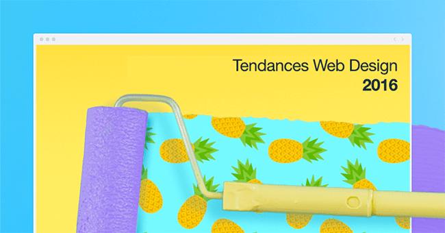 Les grandes tendances du web design 2016