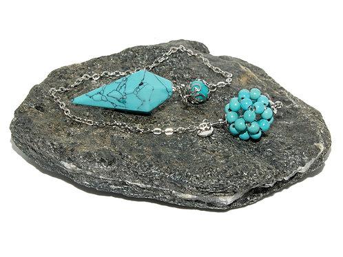 Pendule turquoise bleu