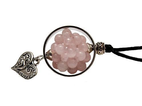 Fleur de vie stellaire quartz rose
