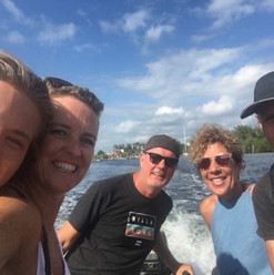 Dinghy rides to shore can be full of laughs